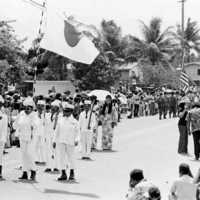 Women's group, representing Japan in WWII, Koror…