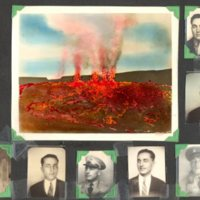 Page 03: Henry Warner photos and volcano postcard
