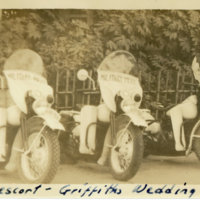 Three MP motorcycles parked at M. P. Club Tokyo for…