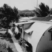 Quonset duplex, Yap, 1963. (N-2676.04).