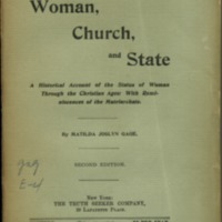 Woman, church, and state: a historical account of the…