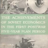 Achievements of Soviet economics in the first postwar…