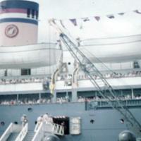 USAT Gaffey, Apra Harbor, CLUS bound. 25 Sept. 1949
