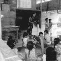 English class, Lelu School, 1st grade. (N-2731. 07).