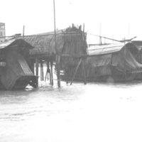 090. Anchored sampan in rain, Pearl River