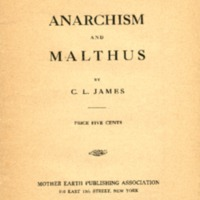 Anarchism and Malthus.