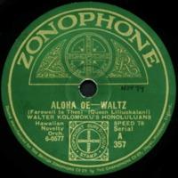 Aloha Oe -- Waltz
