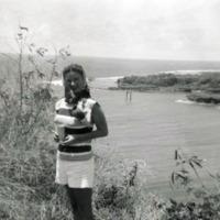 Talofofo Bay. Jap. king posts visible. Rosalie Maxey.…