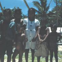 Trukese children, Falo Island. Sept. 1950