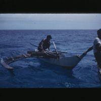 Outrigger canoe.