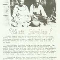 Ethnic Studies!