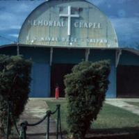 Taken from sign. Saipan, M.I. 28 Oct. 1949