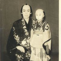 Kaizawa 1-048: Kabuki actors, father and his adopted…