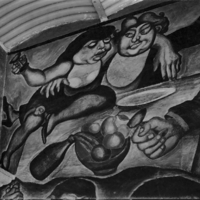 [Detail of Jose Clemente Orozco's fresco mural: The…