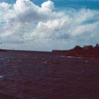 Yap lagoon view, Western Carolines. 19 Dec. 1950