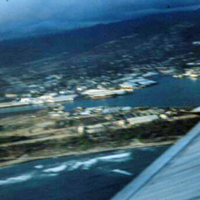 [aerial view of Pearl Harbor, Hawaii]