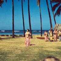 Hula dancer. 8 Apr. 1954