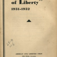 Sweet Land of Liberty:  1931-1932