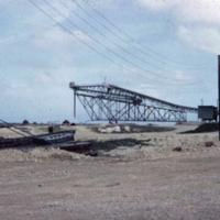 Conveyor belt, loads ships directly. Phos. Mining Co.…