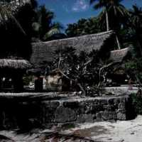 Yapese traditional buildings. (S-4070b.11).