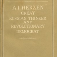 A.I. Herzen; great Russian thinker and revolutionary…