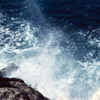 Surf breakwater. Guam. Dec. 1949