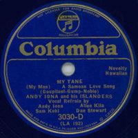 My Tane [(My Man) A Samoan Love Song]