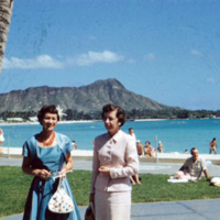 Diamond Head. Margo and Marie Shaw. Honolulu, Hawaii.…