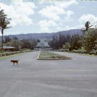 Road to a Mormon church
