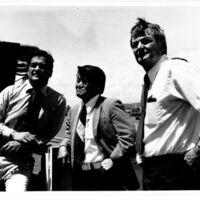 Harbors Day tour: Herman Clark, Nelson Doi, and Tom…