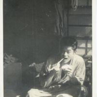 Kaizawa 2-120: Stanley Kaizawa in yukata eating a…