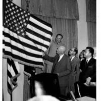 President Eisenhower unveiling the new United States…