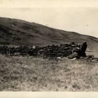 Burial valt near an ahu - Ahu Tepeu (?)
