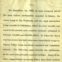 Great Kanto Earthquake Japan - September 1923
