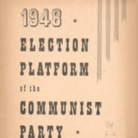 1948 election platform of the Communist Party.