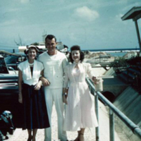 Margo, Perry Mcallister & Mary Riddle. Asan, Guam. Apr.…