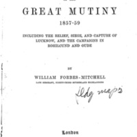 Reminiscences of the Great Mutiny