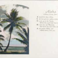 """[001] """"Aloha"""" Postcard"""