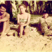 Jack Skapin, Beret Hanson and Jack Linnehan. Tumon Bay,…