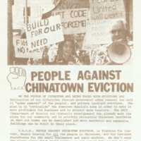 People against Chinatown eviction