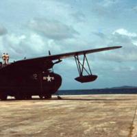 Plane. Return trip, Koror, [Palau]-[to] Guam. 23 Dec.…