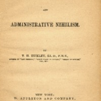 More Criticisms on Darwin, and Administrative Nihilism