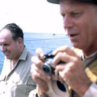 Cdr. Wagner (mc) & Harold Mayo, agriculturist. Lagoon,…