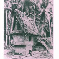Palauan spirit house where offerings were left for the…