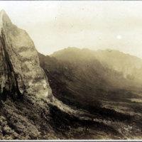 Nuuanu Pali road, circa 1889