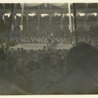 Kaizawa 2-187: Image of a sumo wrestler throwing…
