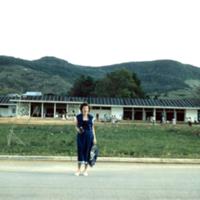 Irene Beers. School at Agat, Guam. Jan. 1950