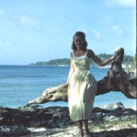 Carole Vogt. Anguar [Ngeaur, Palau]. 14 Feb. 1950