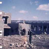 Bombed buildings in Naha