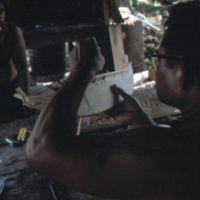 Mau Piailug making model canoe - 023